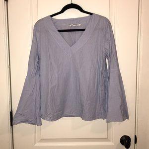 Zara Blue Striped Shirt